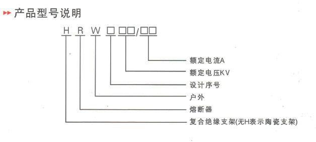 HY5WS型跌落式熔断器型号及含义