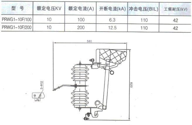 prwg1-10f-10kv跌落式熔断器