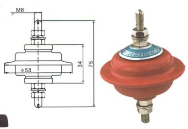 HY1.5W-0.5/2.6低压氧化锌避雷器结构尺寸